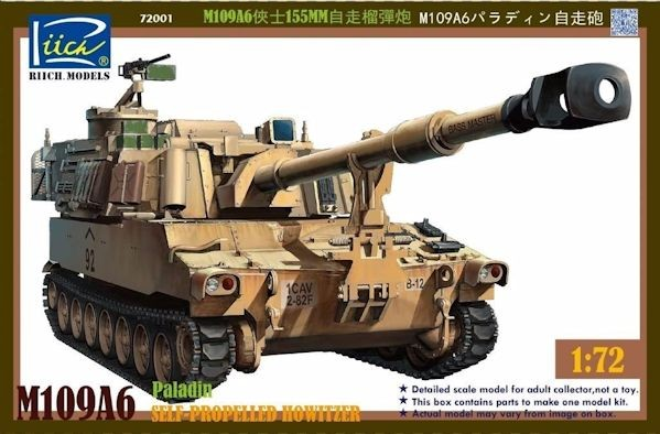 Riich Models 72001 M109A6 Paladin Self-Propelled Howitzer