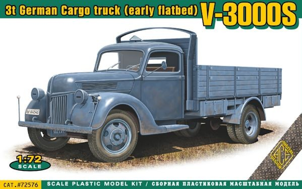 ACE 72576 V-3000S 3t German cargo truck (early flatbed)