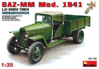 MINIART 35130 CAMION SOVIETIQUE GAZ-MM MODELE 1941 CARGO + 1 fig