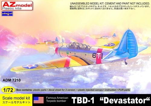 AZ Model 7210 Douglas TBD-1 'Devastator' Decals VT-6 1939; VS-4S 1941; (New mould.