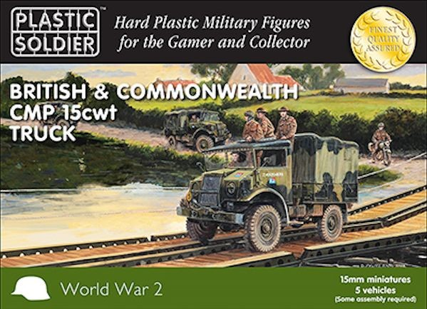 Plastic Soldier WW2V15027 British and Commonwealth CMP 15cwt truck