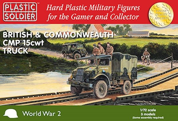 Plastic Soldier WW2V20024 British and Commonwealth CMP 15cwt truck