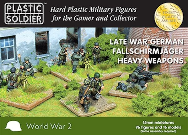 Plastic Soldier WW2015014 Late War German Fallschirmjager Heavy Weapons