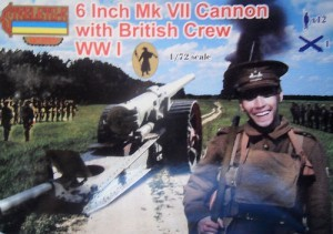 Strelets-R A001 8 Inch Mk VII Cannon with British Crew