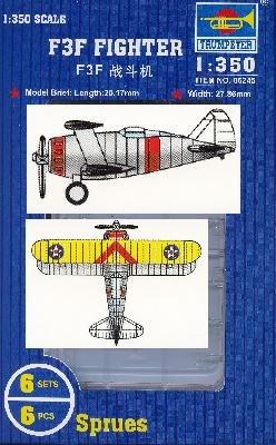 TRUMPETER TR06245 SET DE 6 AVIONS GRUMMAN F3F FLYING BARREL