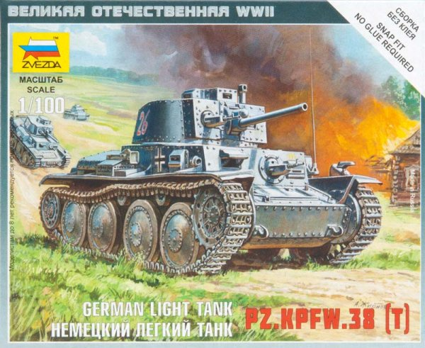 Zvezda 6130 German 38t Tank Model (snap)