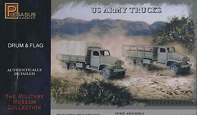 PEGASUS 7651 CAMIONS ARMEE US WWII (2 camions)