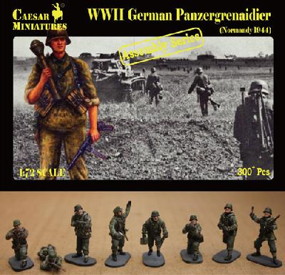 Caesar Miniatures CM7716 PANZERGRENADIERS ALLEMANDS - NORMANDIE 1944 (multiposes)