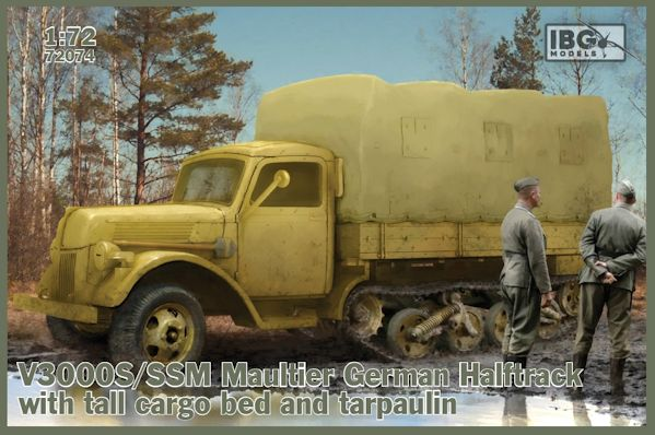 IBG 72074 V3000S/SSM Maultier German Halftrack with tall cargo bed and tarpaulin