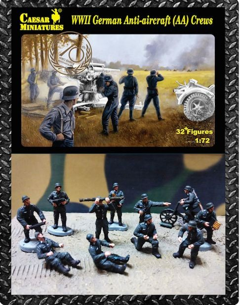 Caesar Miniatures CM089 German Anti-aircraft (AA) Crews (WWII)
