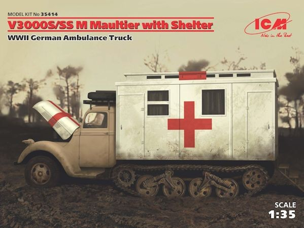 ICM 35414 V3000S/SS M Maultier with Shelter WWII
