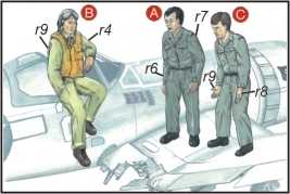 CMK CMKF72040 US Navy Mechanics (2 fig.) And Pilot