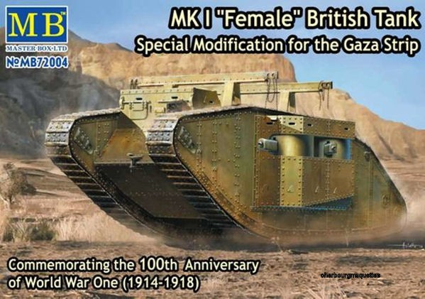 Master Box 72004 MK I Female British Tank, Modification Gaza Strip