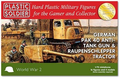 Plastic Soldier WW2G20005 Pak 40 and Raupenschlepper tractor Pak 40 and Raupenschlepper tractor