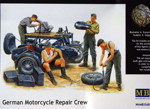MASTER BOX 3560 German Motorcycle Repair Crew