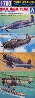 AOSHIMA  AOS01521 SET AVIONS ROYAL NAVY BRITANNIQUE