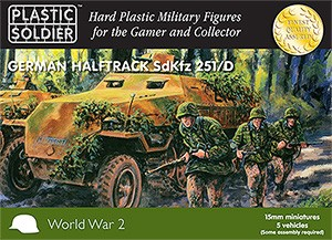 Plastic Soldier WW2V15007 WW2 German SdKfz 251 Ausf D Halftrack