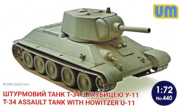 UM 440 Russian T-34 Assault tank with howitzer