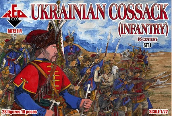 REDBOX 72114 16th Century Ukrainian Cossack (Infantry) Set 1