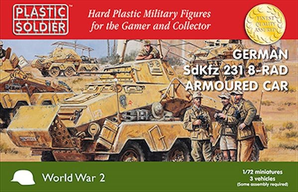 Plastic Soldier WW2V20025 voiture blindée SdKfz 231 8 rad