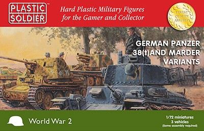 Plastic Soldier WW2V20019 Panzer 38T and Marder options