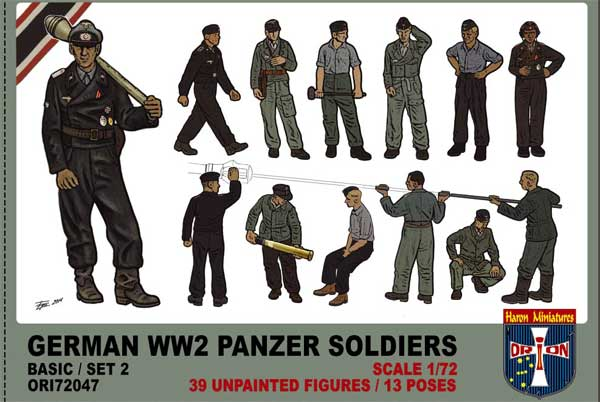 ORION 72047 German WW2 Panzer Soldiers Basic Set 2