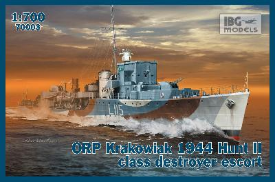 "IBG MODELS 70003 ORP ""KRAKOWIAK"" DESTROYER CLASSE HUNT II - 1944"