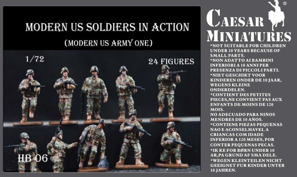 Caesar Miniatures CMHB011 Modern US Soldiers in Action