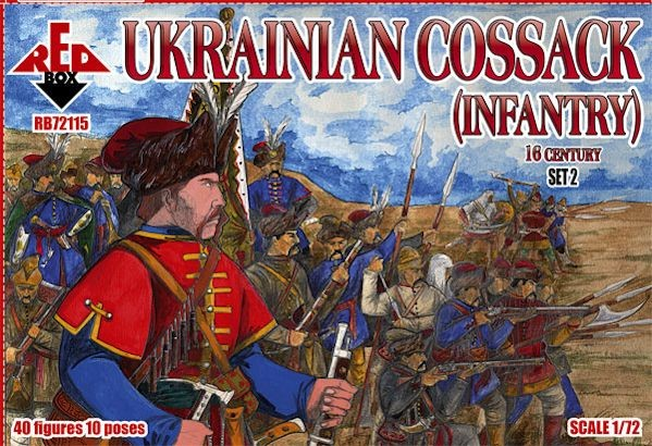 REDBOX 72115 16th Century Ukrainian Cossack (Infantry) Set 2