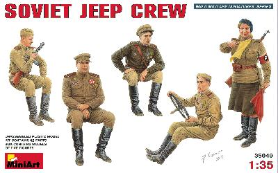 MINIART 35049 EQUIPAGE DE JEEP SOVIETIQUE 1944