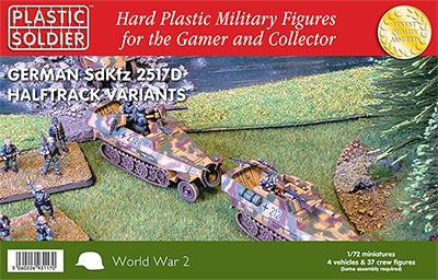 Plastic Soldier WW2V20016 Easy Assembly 251/D Haltrack Variants