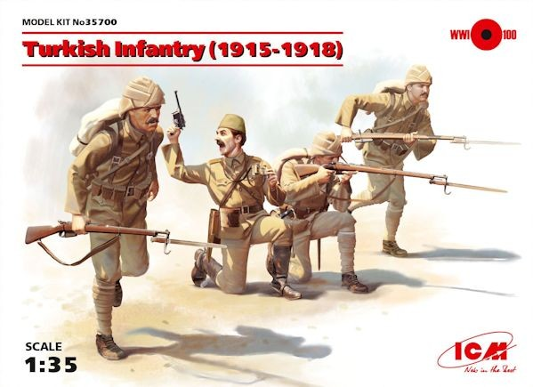 ICM 35700 Turkish Infantry (1915-1918) (4 figures) (100% new molds)