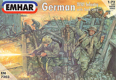 EMHAR 7203 German WWI Infantry with tank crew