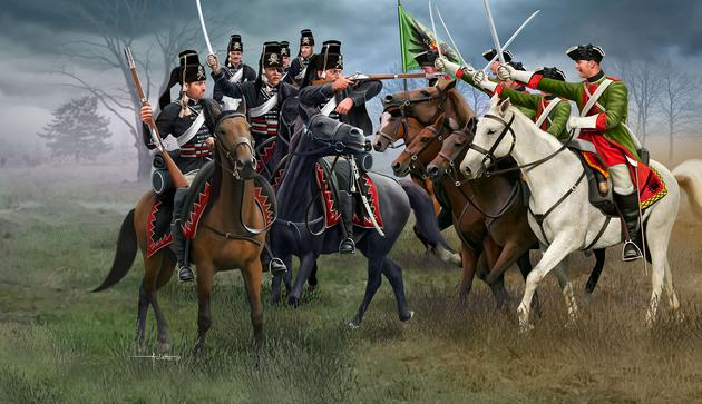Revell 02453 Seven Years War AUSTRIAN DRAGOONS+PRUSSIAN HUSSARS