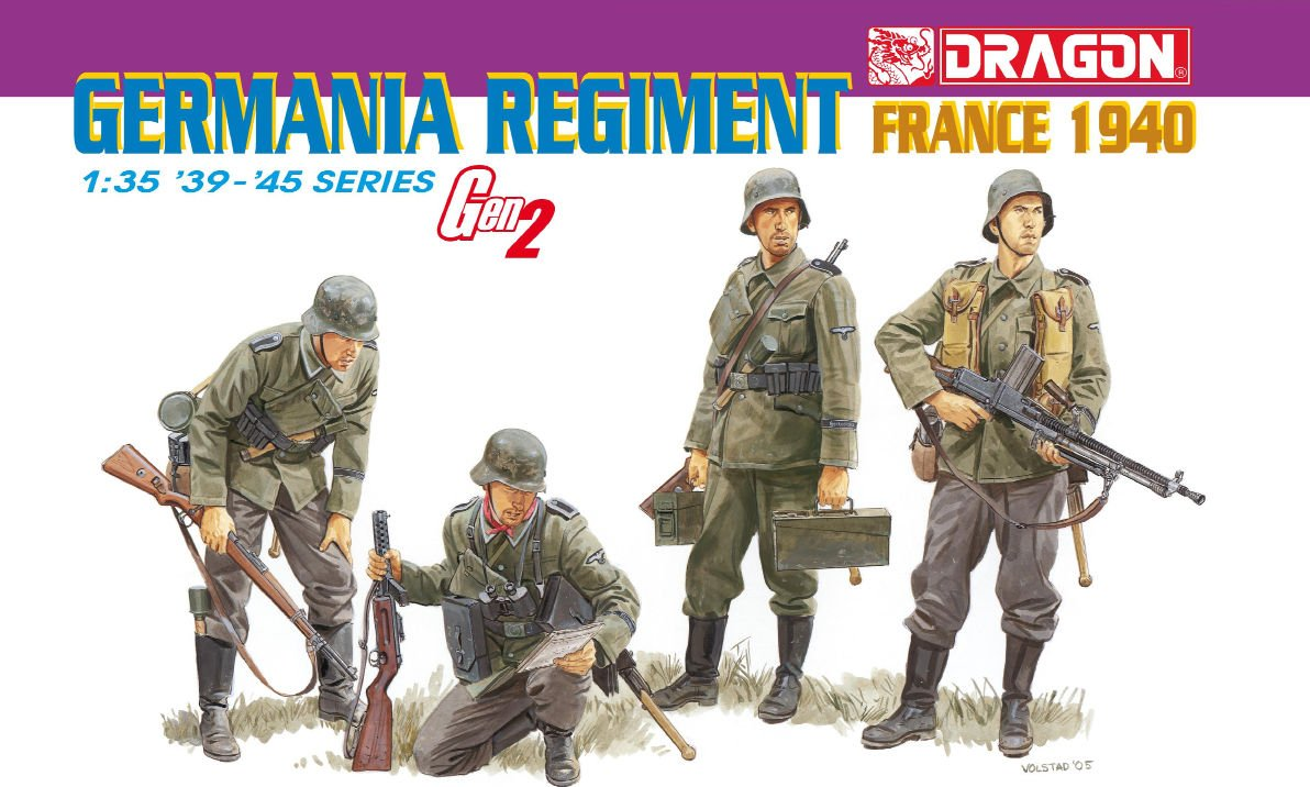 "Dragon 6281  germania regim.(FRANCE 1940) Gen""2"""