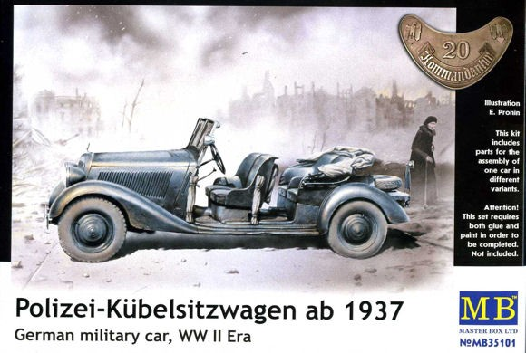 Master Box 35101 MERCEDES BENZ 170 KUBELWAGEN MODEL 1936