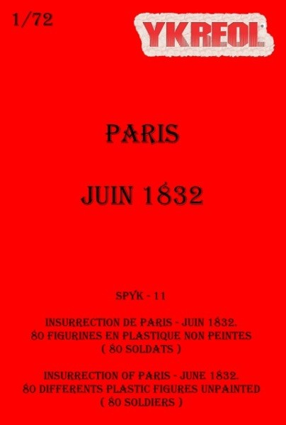 YKREOL SPYK11 Insurrection de Paris, Juin 1832.