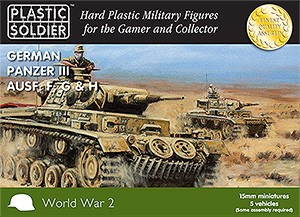 Plastic Soldier WW2V15009 15mm WW2 German Panzer III F,G,H Tank
