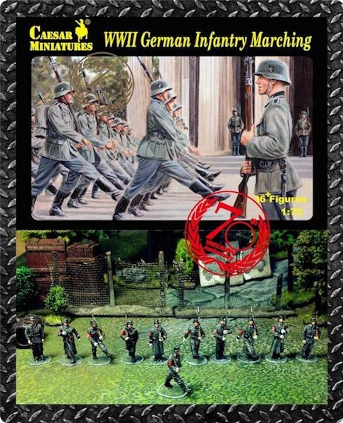 Caesar Miniatures CM081 German Infantry Marching (WWII) x 36 figurines
