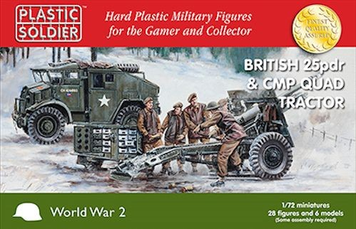 Plastic Soldier WW2G20007 British 25pdr and CMP Quad Tractor