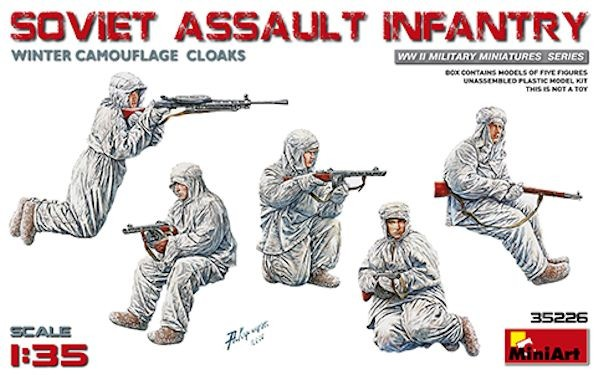 MINIART 35226 Russian Assault Infantry (Winter Camouflage Cloaks)(WWII)