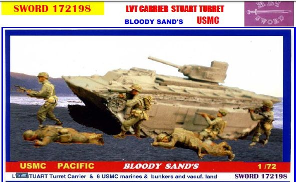 SWORD 172198 USMC Pacific LVT Carrier Stuart turret
