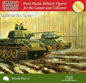 Plastic Soldier WW2V20001 T34/76 ou /85 (3 chars) +3 fig.