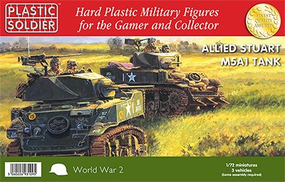 Plastic Soldier WW2V20014 Allied M5A1 Stuart Tank 3 M51