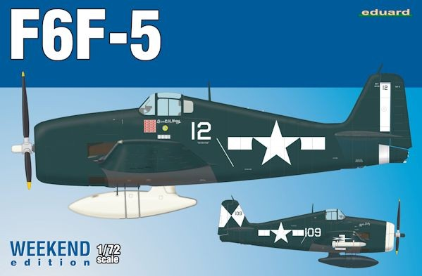 EDUARD 7450 Grumman F6F-5 Hellcat Weekend edition kit of US WWII fighter aircraft