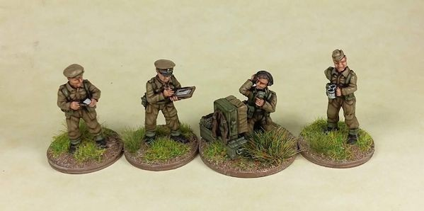 Plastic Soldier WW2G20008 UK and Commonwealth HQ/Battery HQ set