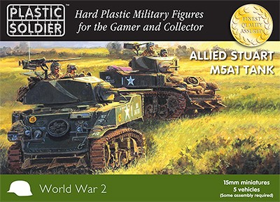 Plastic Soldier WW2V15021 WW2 Allied M5A1 Stuart Tank