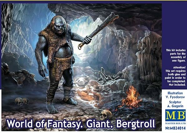 MASTER BOX 24014 World of Fantasy. Giant. Bergtroll