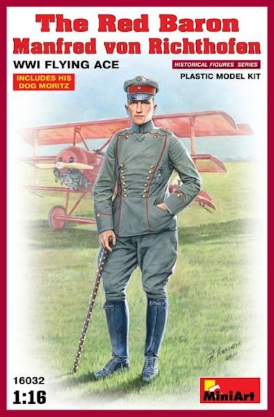 MINIART 16032 The Red Baron - Manfred von Richthofen, WWI Flying Ace